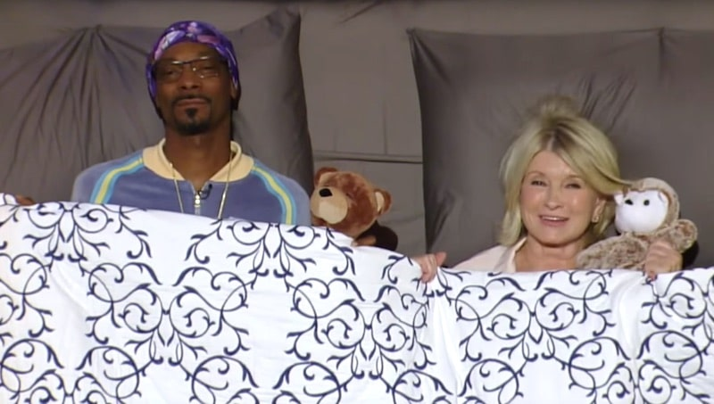 Martha Stewart and Snoop Dogg during the intro for this week's Potluck Dinner Party on VH-1