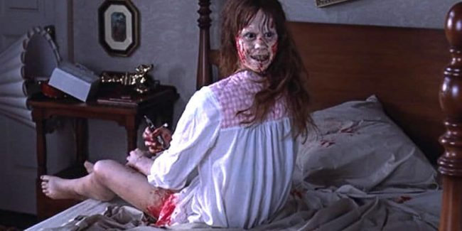 A scene from The Exorcist, easily one of the scariest movies of all time