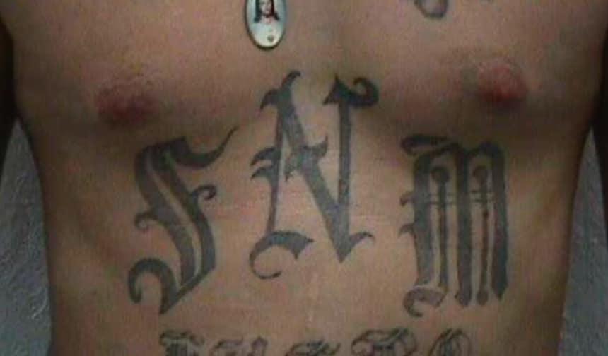 Syndicato de Nuevo Mexico gang member's tattoos