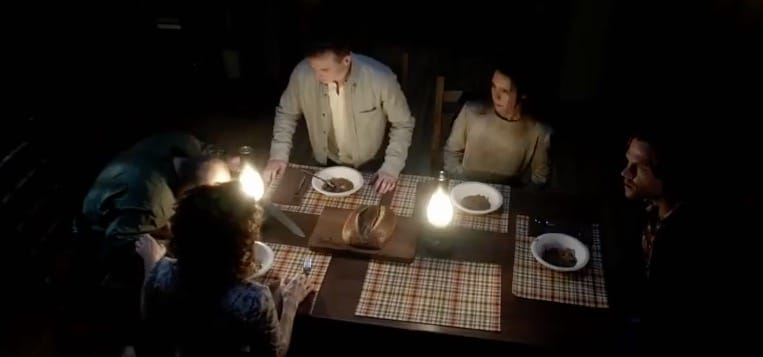Sam and Dean join the religious family for supper