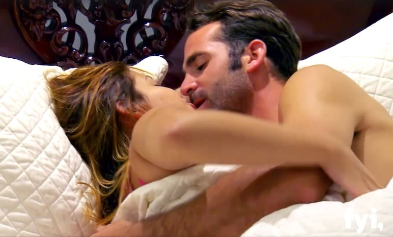 Married at First Sight's most successful couple Tom and Lillian cuddle up under the covers