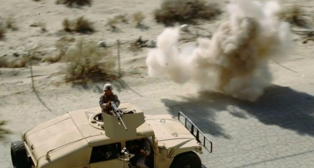 The Warfighters - troops encounter a roadside bomb