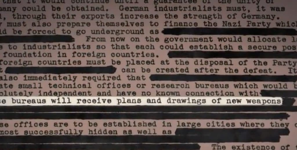 Do plans reveal details of a Nazi 4th Reich