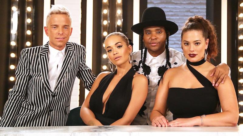 Drew Elliott, Rita Ora, Law Roach and Ashley Graham on this season's America's Next Top Model