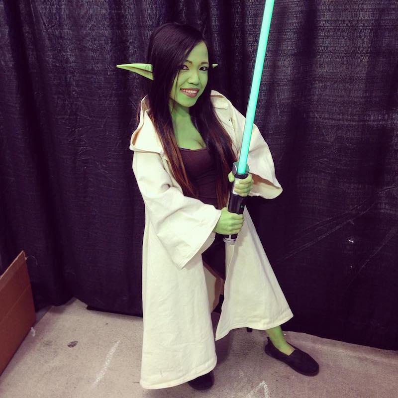 Asta as Yoda from Star Wars
