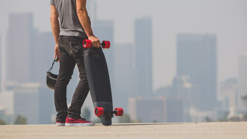 The Inboard M1 electric skateboard, which rides and feels like a normal skateboard