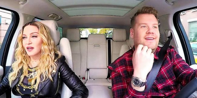Madonna twerks and dishes on Michael Jackson in Corden's Carpool Karaoke