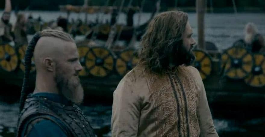 Rollo and Bjorn on Vikings
