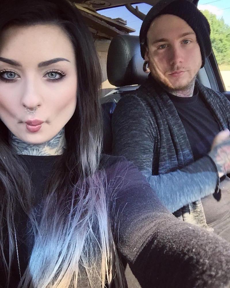 Ryan with her fiance Josh Balz