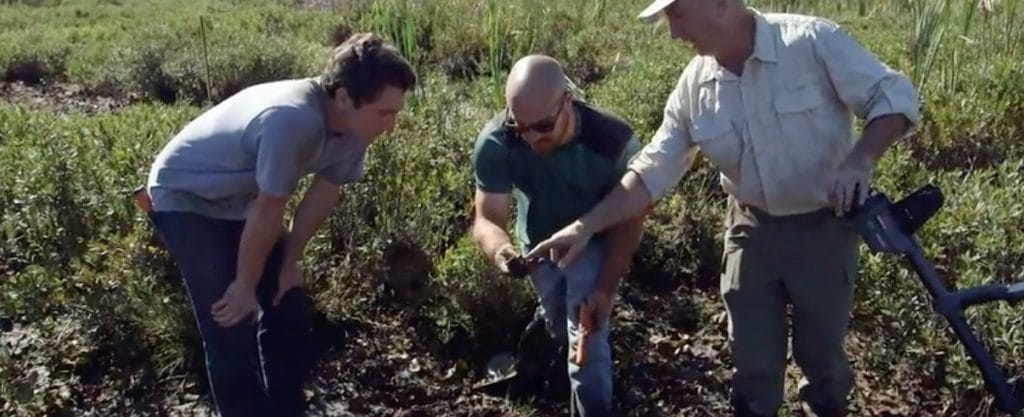 The team find some object on the surface the swamp drains on Oak Island