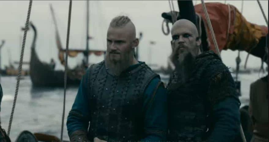 Floki and Rollo on Vikings