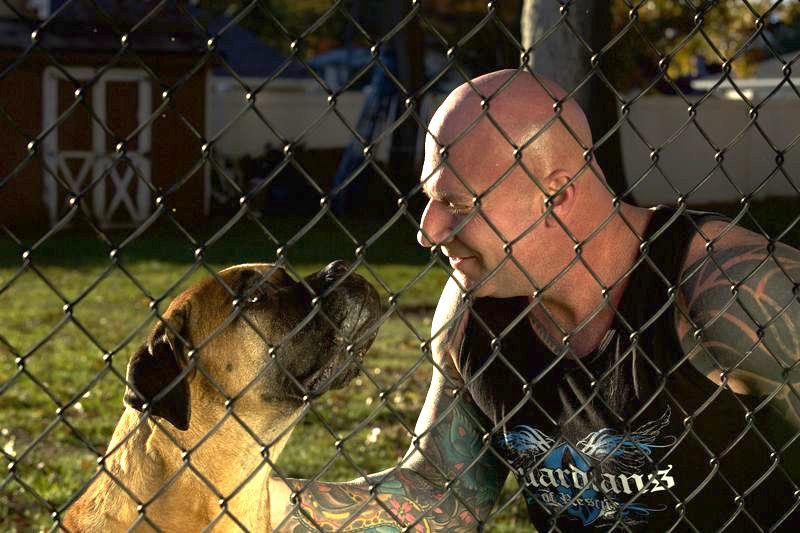 Brian pictured with Sampson, a dog he saves in Philly during Guardians Episode 1