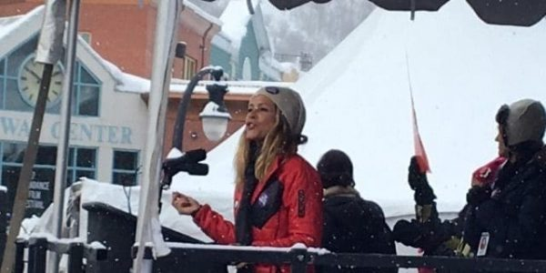 """""""Hello, Pussies!"""" said actress Maria Bello, greeting the crowd of progressives who gathered at the bottom of historic Main Street in Park City, Utah — the location of the 2017 Sundance Film Festival — one of dozen of anti-Trump rallies across America today"""