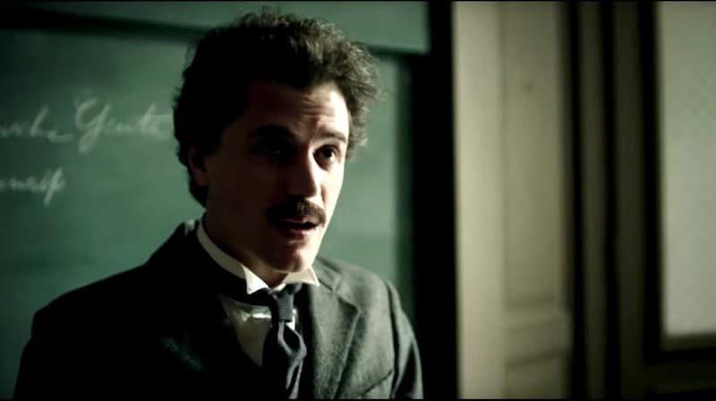 Johnny Flynn as the younger version of Einstein