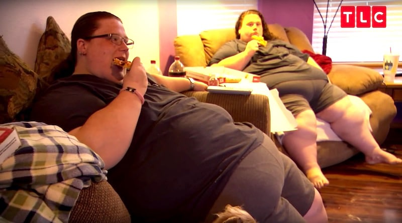 Identical twins Brandi and Kandi, who weigh 1,100lb combined, on the My 600-lb Life premiere