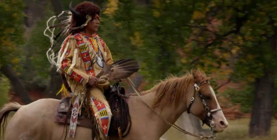 Chief Arvol Looking Horse, who is 19th Keeper of the Sacred White Buffalo Calf Pipe
