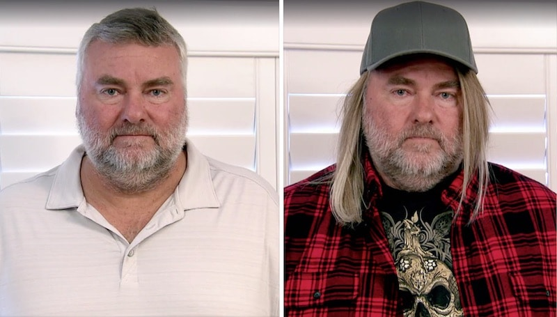 John Fuller, CEO of The Coffee Bean & Tea Leaf, before and after his hilarious transformation