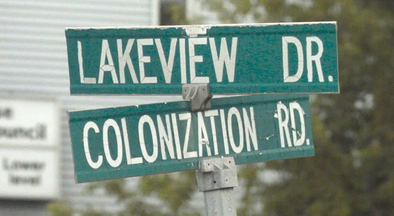 One of the many streets bearing the controversial Colonization Road name in Canada