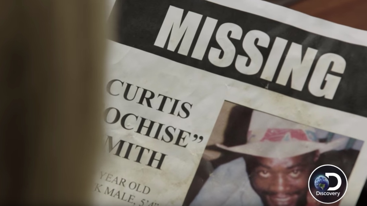 "A ""Missing"" poster for Curtis ""Cochise"" Smith"