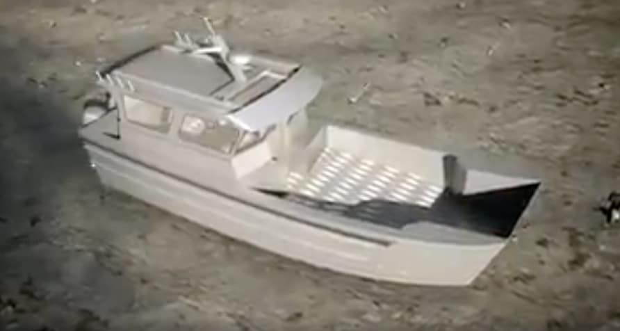 The final boat will be a sort of landing craft 32ft by 10ft and capable of taking 8000lb.