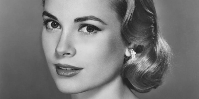 Grace Kelly in a picture thought to have been taken in 1955