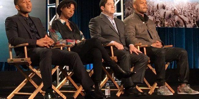 John Legend, Misha Green, Joe Pokaski, and Anthony Hemingway at the TCA winter press tour