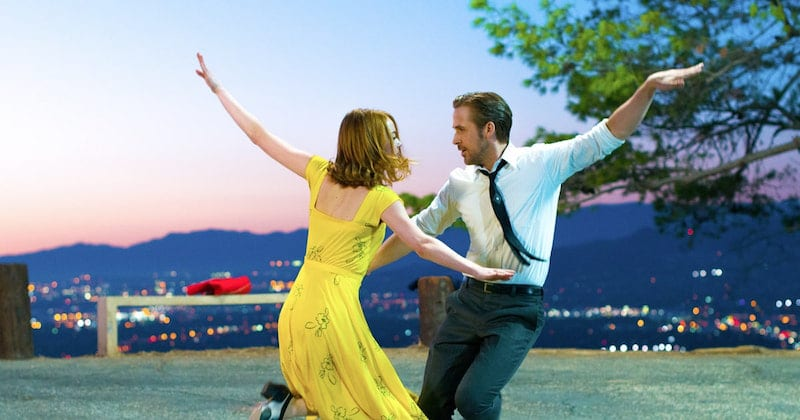 Emma Stone and Ryan Gosling singing and dancing their way to the Oscars in La La Land