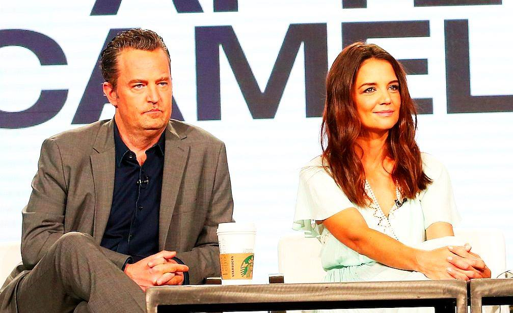 Matthew Perry and Katie Homes at the TCAs