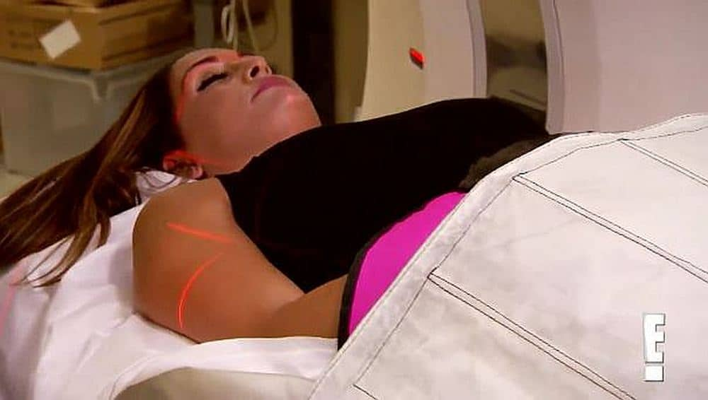 Nikki Bella having a scan on Total Divas