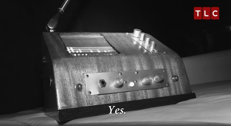 The Geobox Spirit Box as it captures a haunting voice saying 'Yes'