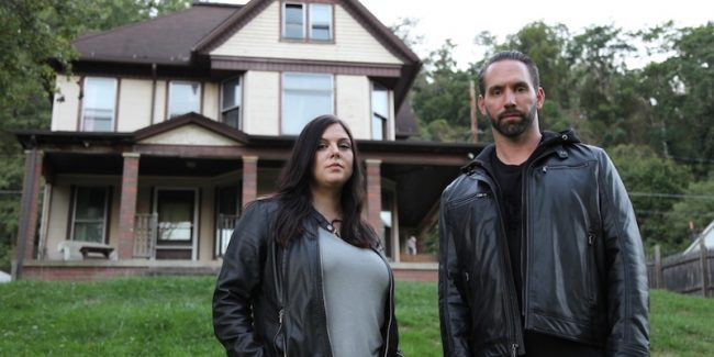 Paranormal Lockdown's Nick Groff and Katrina Weidman at Bellaire House