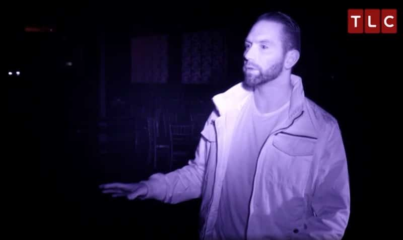 Nick inside the Statler City hotel's Rendezvous Room on this week's Paranormal Lockdown