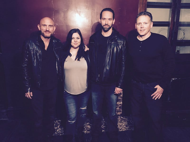 Steve with GeoBox creator George Brown and Paranormal Lockdown's Katrina Weidman and Nick Groff