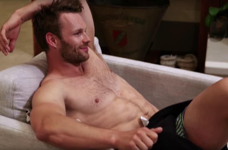 Mark topless in last week's Timber Creek Lodge moments before hooking up with a guest