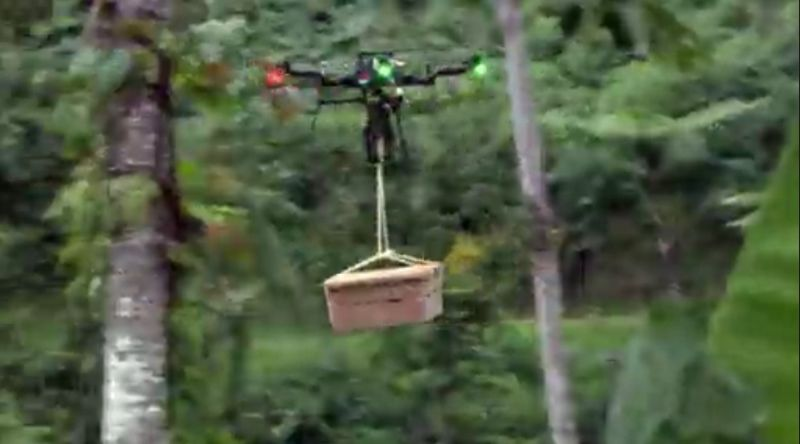 Drone delivering - Stranded With a Million Dollars: A cross between Lord of the Flies and Hunger Games