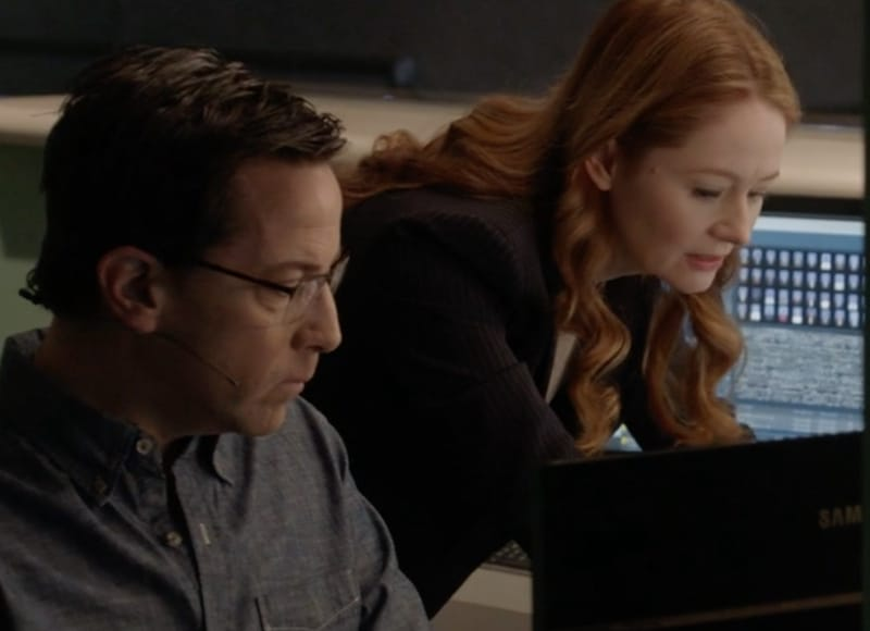 Ingram at a computer
