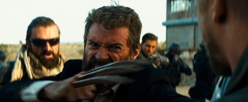 Wolverine, played by Hugh Jackman, goes berserk in Logan