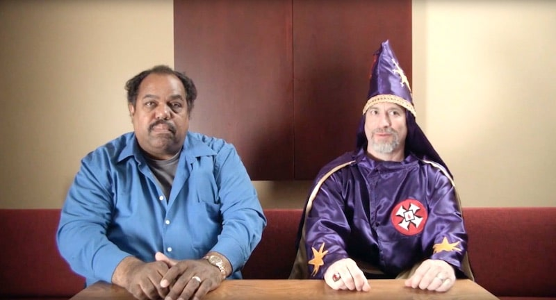 Daryl Davis and a Ku Klux Klan member in Accidental Courtesy on PBS's Independent Lens