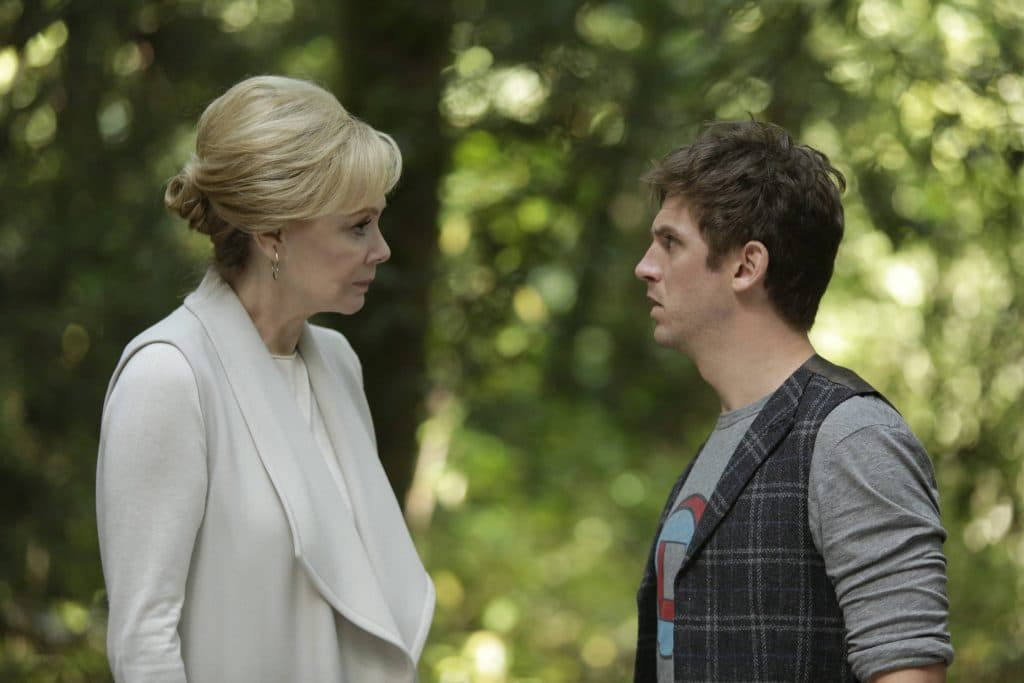 Jean Smart as Melanie Bird, Dan Stevens as David Haller in Legion Season 1 Episode 2, Chapter 2