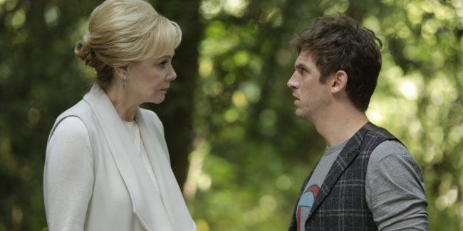 Jean Smart as Melanie Bird, Dan Stevens as David Haller in Legion Season 1 Episode 2, Chapter 2
