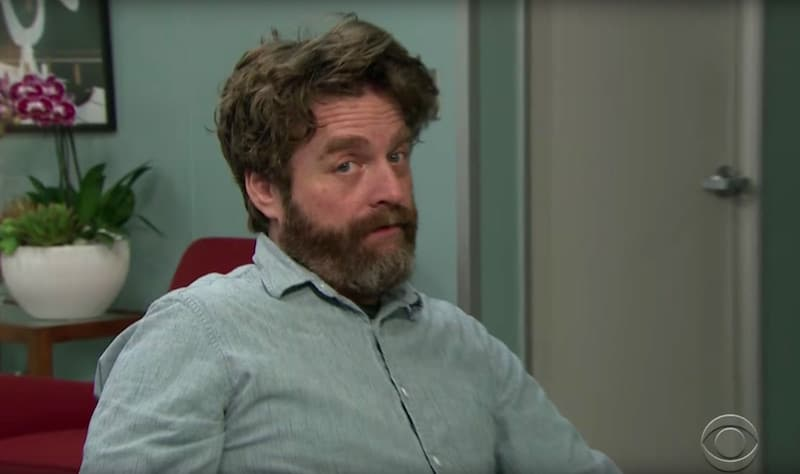 Zach Galifianakis is an unwelcome guest on The Late Late Show with James Corden