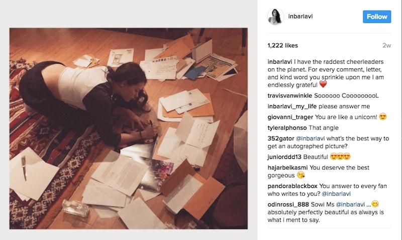 Instagram post by Inbar Lavi