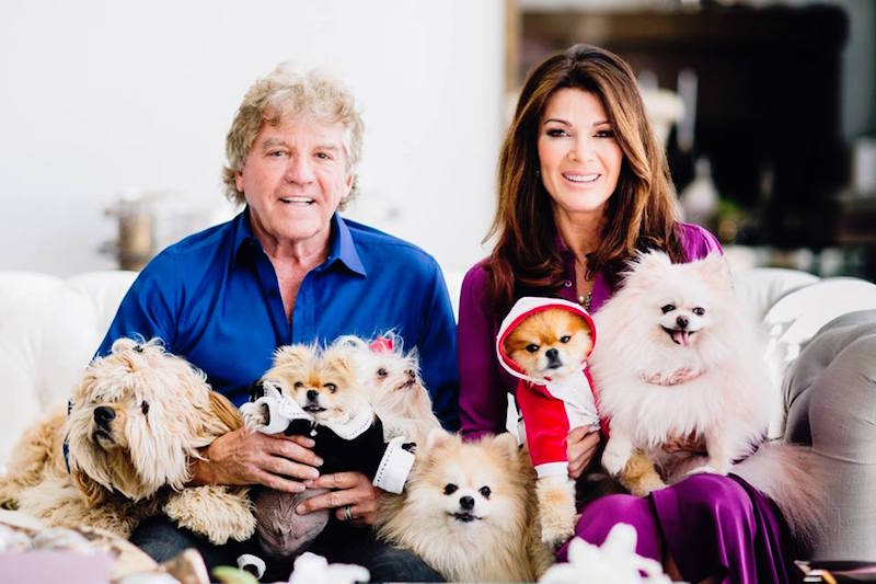 Ken and Lisa at home with their dogs last year