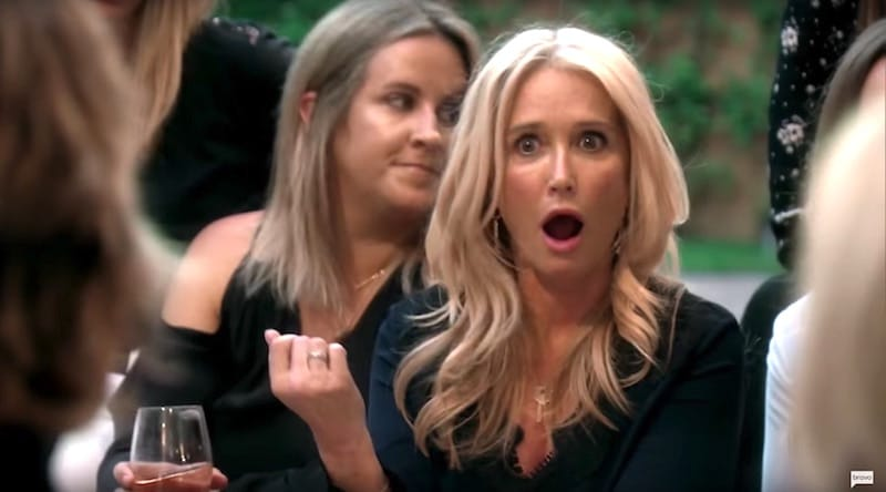 Kim Richards argues with Lisa Rinna on The Real Housewives of Beverly Hills