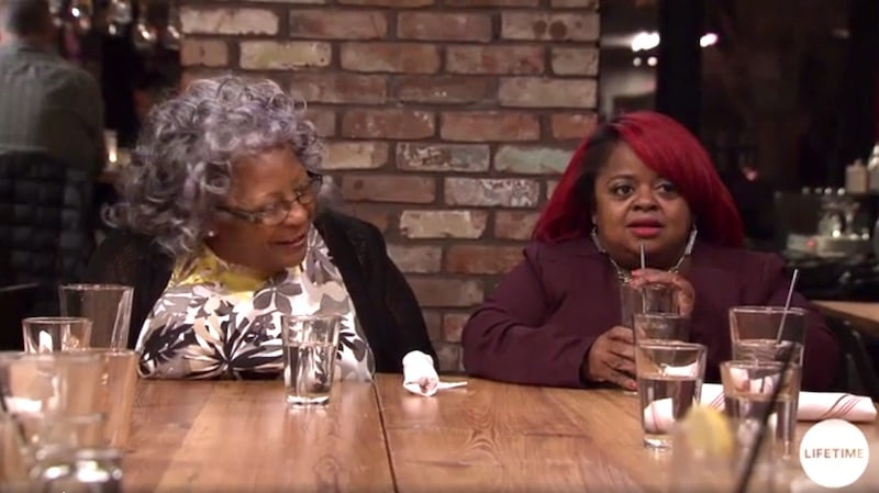 Ms. Juicy and her mom before things get awkward on this week's Little Women: Atlanta