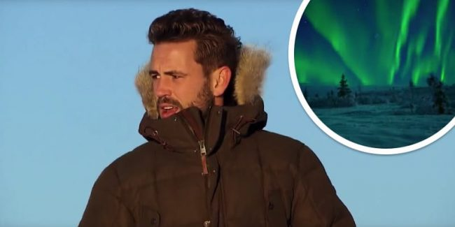 Nick while in Lapland as The Bachelor Season 21 reaches its climax