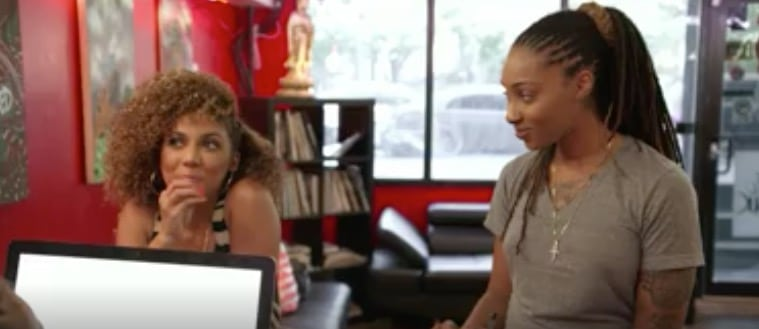 Dutchess looks less than impressed at what Sky tells her about Tiffany