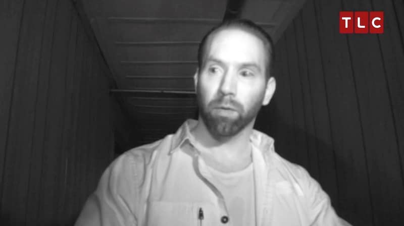 Nick moments after being overcome by static energy on this week's Paranormal Lockdown