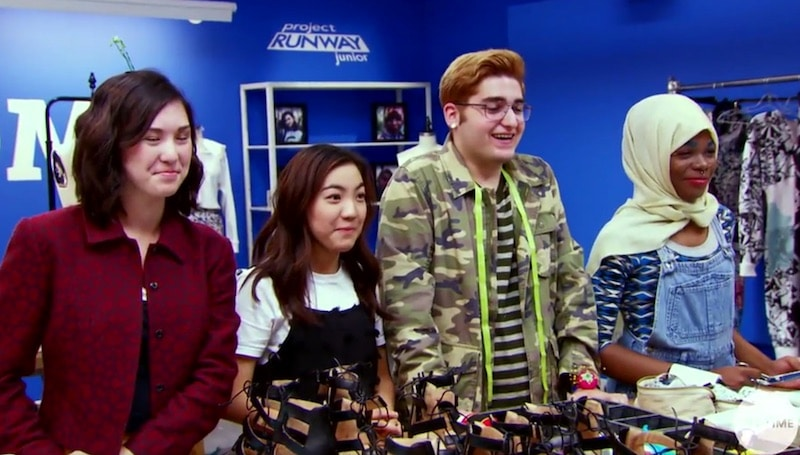 The Project Runway Junior final four: Izzy, Chelsea, Chris and Hawwaa