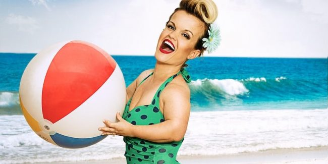 Terra Jole at the beach in a promotional picture for Little Women: LA